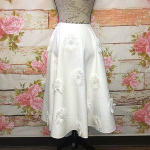 NEW! Michael Kors Embroidered Circle Skirt